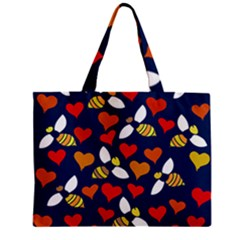 Honey Bees In Love Mini Tote Bag
