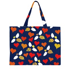 Honey Bees In Love Large Tote Bag
