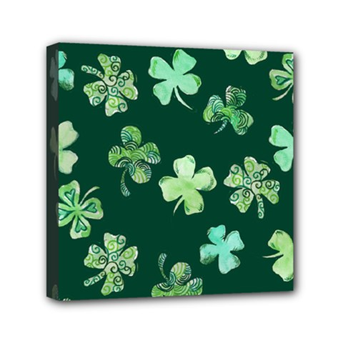 Lucky Shamrocks Mini Canvas 6  x 6