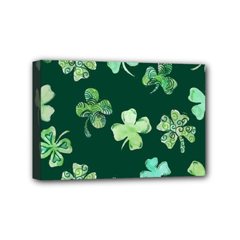Lucky Shamrocks Mini Canvas 6  x 4