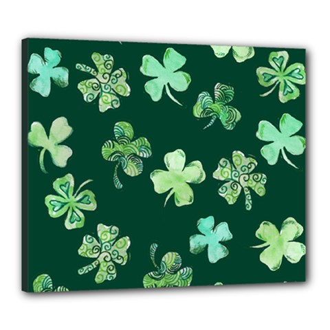 Lucky Shamrocks Canvas 24  X 20
