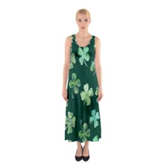 Lucky Shamrocks Sleeveless Maxi Dress