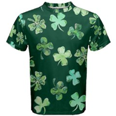 Lucky Shamrocks Men s Cotton Tee