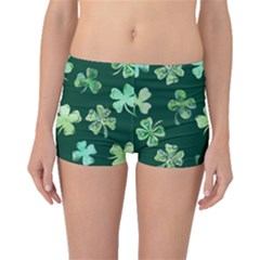 Lucky Shamrocks Boyleg Bikini Bottoms