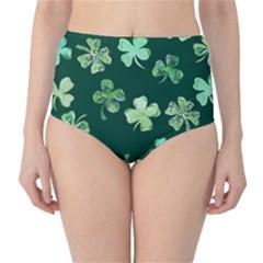 Lucky Shamrocks High-Waist Bikini Bottoms