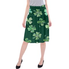 Lucky Shamrocks Midi Beach Skirt
