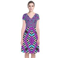 Lazur Lypeh Short Sleeve Front Wrap Dress