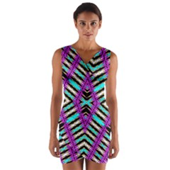 ANCIENT  Wrap Front Bodycon Dress