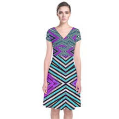 La Loi Short Sleeve Front Wrap Dress