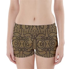 Doodelide Ornate Decorative Swirls Elegant Boyleg Bikini Wrap Bottoms