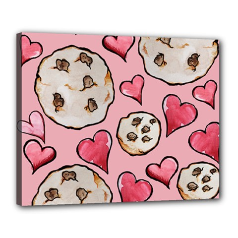 Chocolate Chip Cookies Canvas 20  x 16