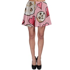 Chocolate Chip Cookies Skater Skirt