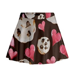Chocolate Chip Cookies Mini Flare Skirt