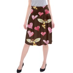 Honey Bee Love Bees Midi Beach Skirt