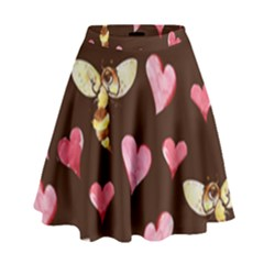 Honey Bee Love Bees High Waist Skirt