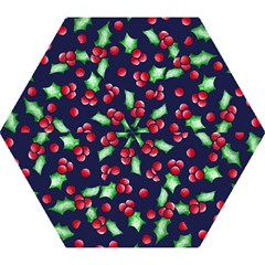 Holly Jolly Christmas Mini Folding Umbrellas