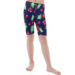 Holly Jolly Christmas Kid s Mid Length Swim Shorts
