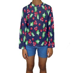Holly Jolly Christmas Kid s Long Sleeve Swimwear