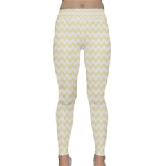 Chevron Sand Yoga Leggings