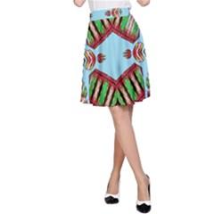 Ocean Love A Line Skirt