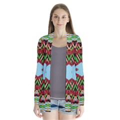 Ocean Love Drape Collar Cardigan
