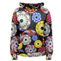 Colorful Retro Circular Pattern Women s Pullover Hoodie View1