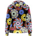 Colorful Retro Circular Pattern Women s Pullover Hoodie View2