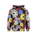 Colorful Retro Circular Pattern Kids  Pullover Hoodie View1
