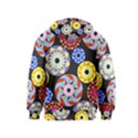 Colorful Retro Circular Pattern Kids  Pullover Hoodie View2