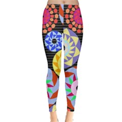 Colorful Retro Circular Pattern Leggings