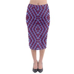 Water Damage Midi Pencil Skirt