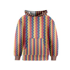 Colorful Chevron Retro Pattern Kids  Pullover Hoodie