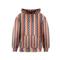 Colorful Chevron Retro Pattern Kids  Zipper Hoodie