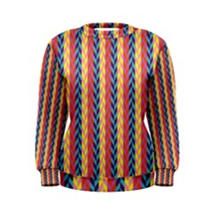 Colorful Chevron Retro Pattern Women s Sweatshirt