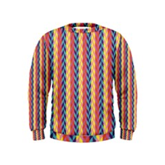 Colorful Chevron Retro Pattern Kids  Sweatshirt