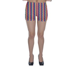 Colorful Chevron Retro Pattern Skinny Shorts