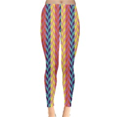 Colorful Chevron Retro Pattern Leggings