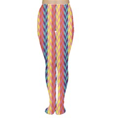Colorful Chevron Retro Pattern Tights