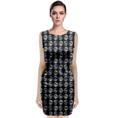 Moon And Earth Classic Sleeveless Midi Dress