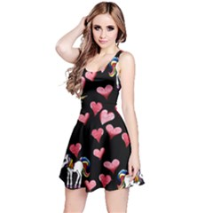 Retro Unicorns Heart Reversible Sleeveless Dress