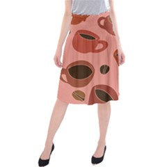 Coffee Lover Midi Beach Skirt