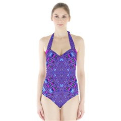 Power Pleight Halter Swimsuit
