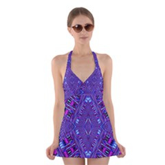 POWER PLEIGHT Halter Swimsuit Dress