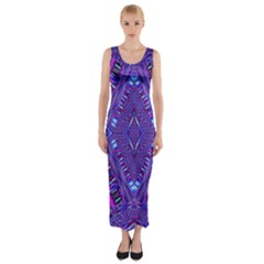 Power Pleight Fitted Maxi Dress