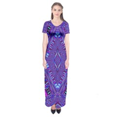 Power Pleight Short Sleeve Maxi Dress