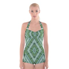 PROTECT TWO Boyleg Halter Swimsuit