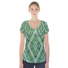 Protect Two Short Sleeve Front Detail Top