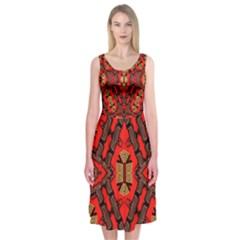 B U L L E T G U N Midi Sleeveless Dress