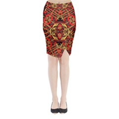 Bull Eteese N Gun Midi Wrap Pencil Skirt