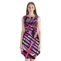Cut Out Sleeveless Chiffon Dress